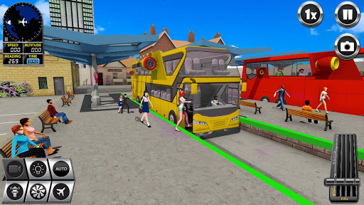 Flying Bus Driving simulator 2019: Free Bus Games 3.1 screenshots 1