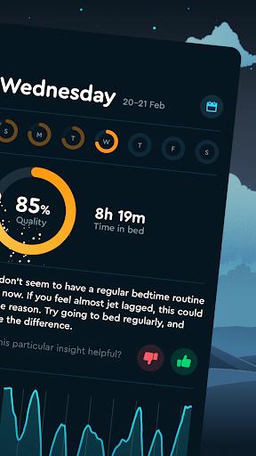 Sleep Cycle: Sleep analysis & Smart alarm clock modavailable screenshots 2