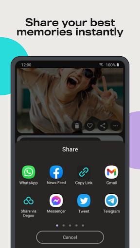 Degoo: 100 GB Cloud Storage apktram screenshots 6