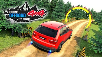 4x4 Mountain Car Driving Sim : Off Road Jeep Games