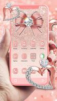 Luxury Rose Gold Diamond APUS Launcher Theme