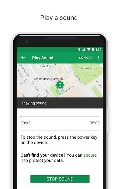 Google Find My Device screenshot 1