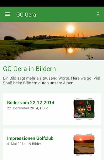 golfclub gera e.v. screenshot 1