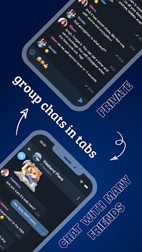 Tele Messenger Chats & Calls Free modavailable screenshots 4