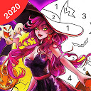 Halloween Coloring Games- Paint by Numbers Offline