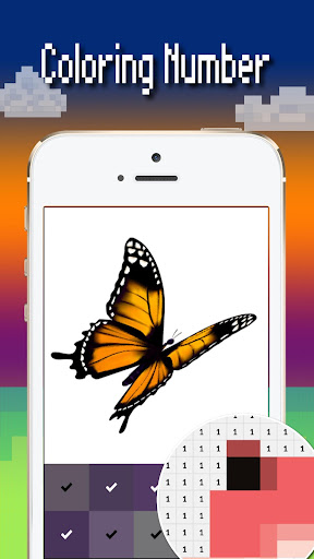 Butterfly color by number : Bugs coloring book 1.4 screenshots 4