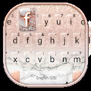 Rose Gold Glitter Marble Keyboard Theme
