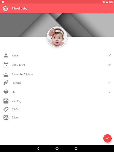 Baby App, Baby tracker 1.1.1 Screenshots 11
