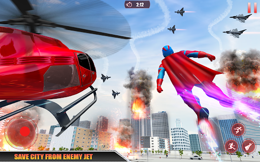 Flying Robot Superhero: Rescue City Survival Games 1.22 Screenshots 12