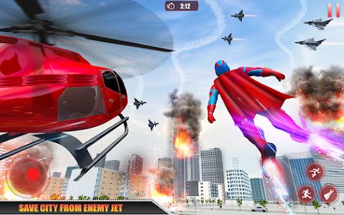 Flying Robot Superhero: Rescue City Survival Games 6