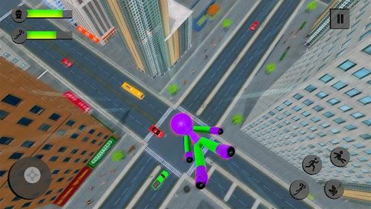 Flying Hero Stickman Rope Hero Grand Crime City 4