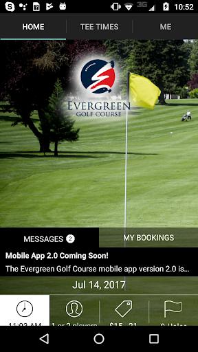 evergreen golf tee times screenshot 1