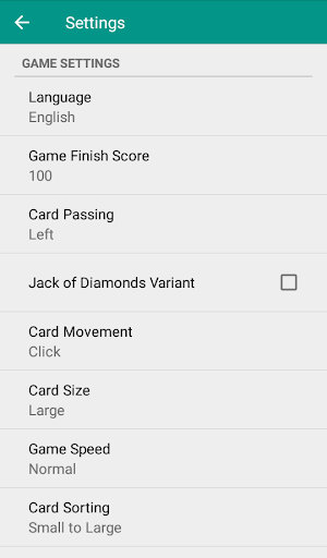 Hearts - Card Game android2mod screenshots 4