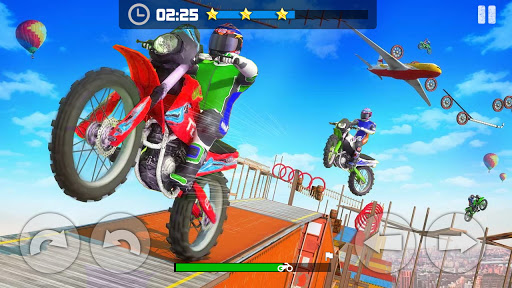 Sky Bike Stunt Master : Free Offline Racing Game  screenshots 1