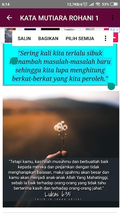Kata Mutiara Rohani Menyentuh Hati Android تطبيقات Appagg