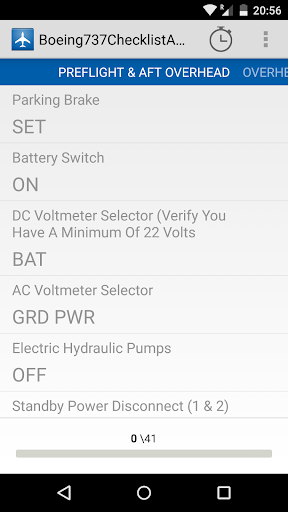 boeing737 ngx checklist screenshot 3