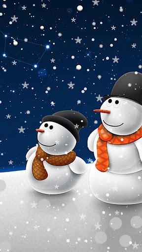 Snowman Live Wallpaper u2013 Christmas Backgrounds screenshots 2