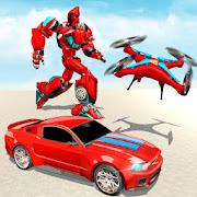 Drone Robot Transforming Game - Robot Car Game