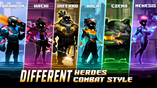 Cyber Fighters: League of Cyberpunk Stickman 2077 Apk Mod + OBB/Data for Android. 2