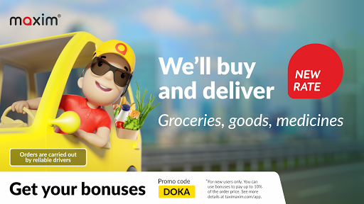 maxim u2014 order taxi, food and groceries delivery  screenshots 1