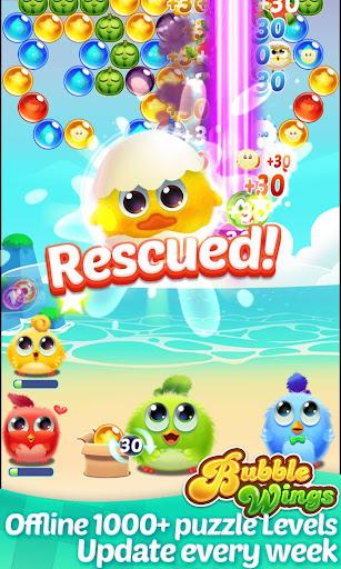 Bubble Wings: offline bubble shooter games screenshots 1