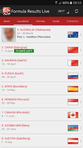 Formula Results Live screenshots 2
