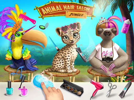Jungle Animal Hair Salon - Styling Game for Kids 4.0.10018 screenshots 10
