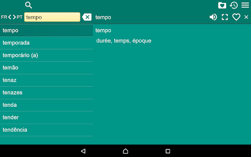 French Portuguese Dictionary F Screenshot