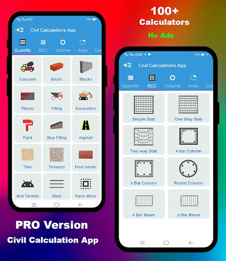 Civil Calculation PRO screen 0