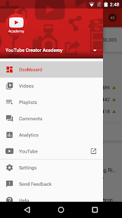 YouTube Studio Capture d'écran