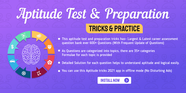 Aptitude Test and Preparation, Tricks & Practice Screenshot