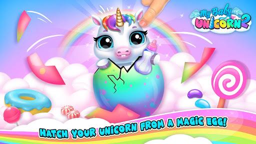 My Baby Unicorn 2 - New Virtual Pony Pet android2mod screenshots 5