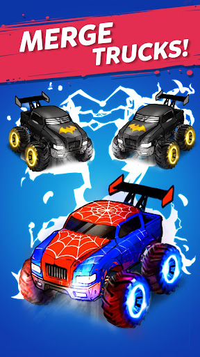 Merge Truck: Monster Truck Evolution Merger game Apkfinish screenshots 1