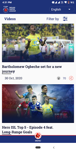 Indian Super League - Official App 8.8 Screenshots 3