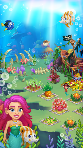 Aquarium Farm -fish town, Mermaid love story shark modiapk screenshots 1