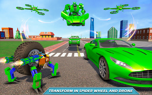 Drone Robot Car Driving - Spider Wheel Robot Game  screenshots 5