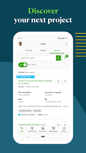Upwork for Freelancers 1.27.0 screenshots 1