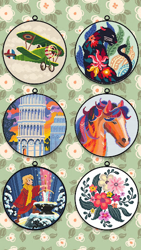 Cross Stitch Club u2014 Color by Numbers with a Hoop 1.4.32 screenshots 4