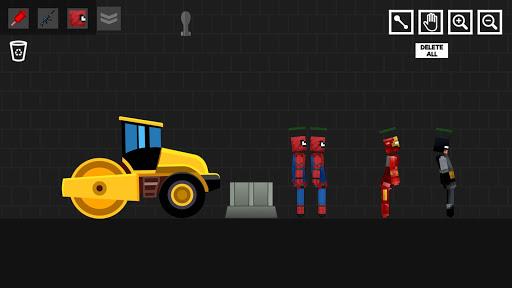 Spider Ragdoll Playground: Iron Human apkpoly screenshots 8