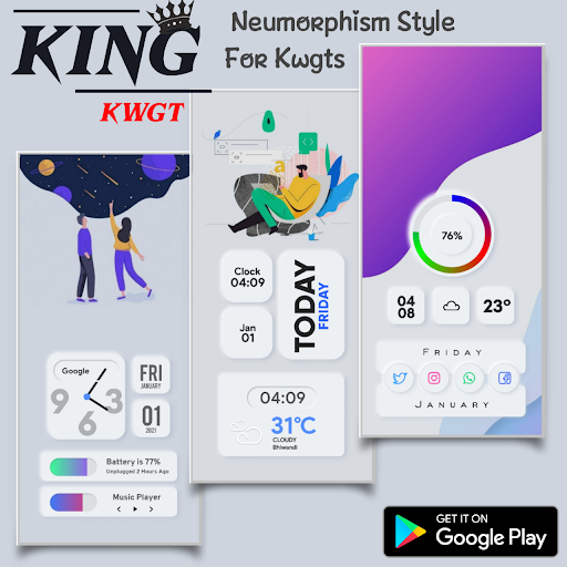 Download APK: KinG KWGT v14.0 [Paid]