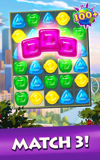 Gummy Drop! Match to restore and build cities  screenshots 15