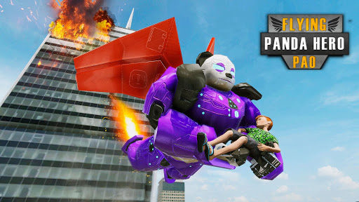 Flying Police Panda Robot Game: Robot Car Game screenshots 5