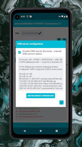 personalDNSfilter - block tracking, malware & more android2mod screenshots 2