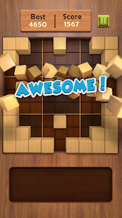 Block Puzzle 99: Draw Wood Cube Fit Space Clear Up
