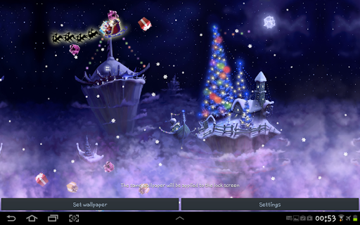 christmas snow fantasy live wallpaper screenshot 1