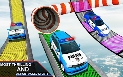 Police Spooky Jeep Stunt Game: Mega Ramp 3D apkpoly screenshots 6