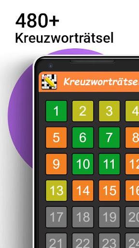 Kreuzwortru00e4tsel Deutsch kostenlos  Screenshots 1
