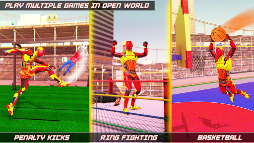 Flying Robot Rope Hero - Vegas Crime City Gangster 3.5 screenshots 5