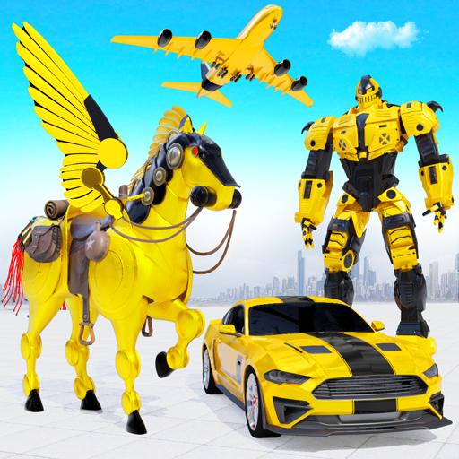 Robot mobil otot terbang membuat permainan robot