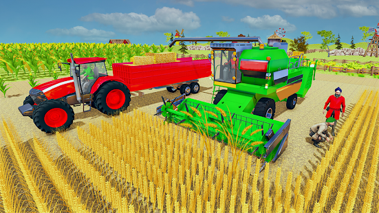 Village Tractor Games:Chained Tractor Offroad Game Screenshot